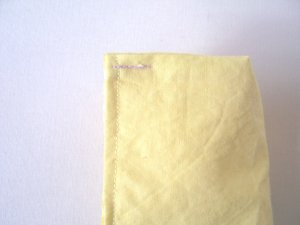 Topstitch the top 1/2 inch
