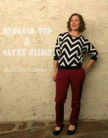 Georgia Top & Alyse Slim Pants